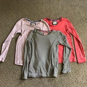 3 mini boden pointelle tee shirts size 13-14